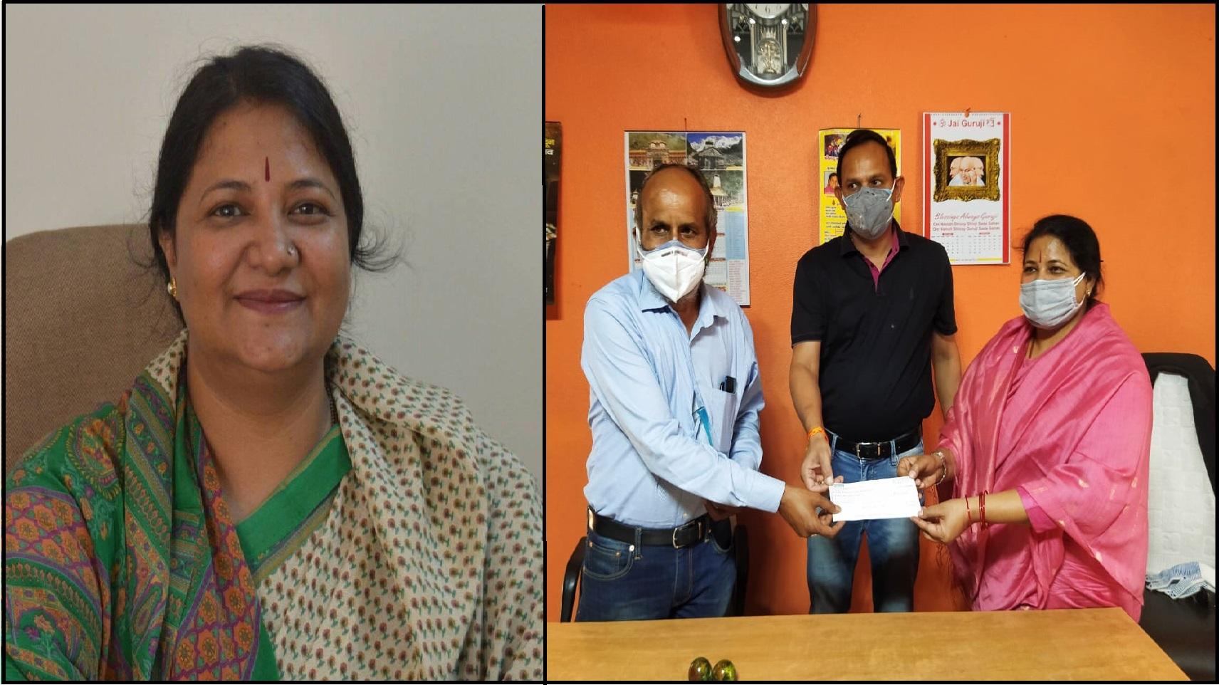 एड0 सुनीता प्रकाश ने दिखाई दरियादिली, जरूरतमंद वकीलों के लिए देहरादून बार एसोसिएशन को सौंपा 1 लाख का चेक